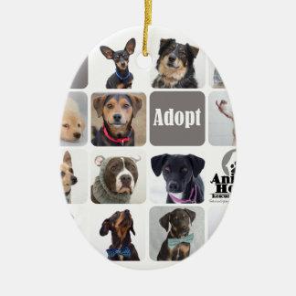 Dog Rescue Animal House Ceramic Ornament