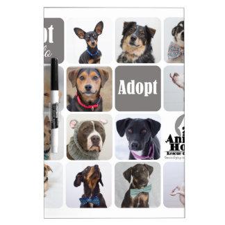 Dog Rescue Animal House Dry-Erase Board