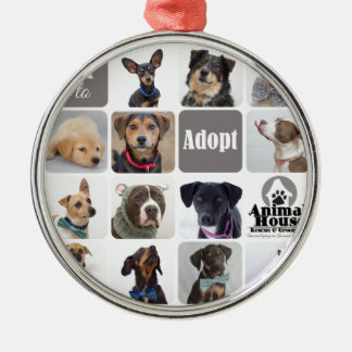 Dog Rescue Animal House Metal Ornament