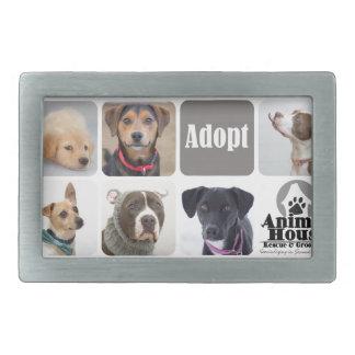 Dog Rescue Animal House Rectangular Belt Buckle