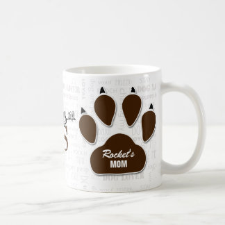Dog Rescue | Moms are Heroes | Brown Paw Print Coffee Mug
