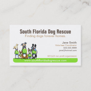 Non profit business cards zazzle dog rescue non profit green tagline business card colourmoves