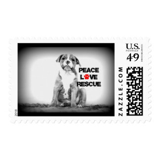 Dog Rescue Postage Stamp