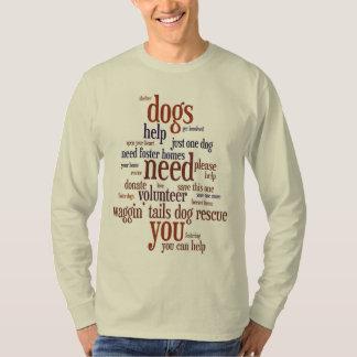 Dog Rescue Wordie T-Shirt