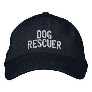 """""""Dog Rescuer"""" Embroidered Baseball Caps"""