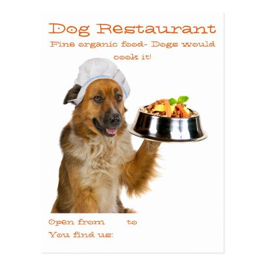 Dog Restaurant Postcard