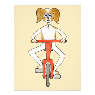 Dog Riding A Red Bike. Flyer