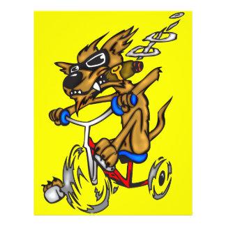 Dog Riding Bike Flyer