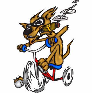 Dog Riding Bike Acrylic Cut Out