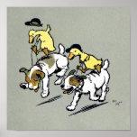 Dog-riding ducks poster