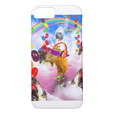 Dog Riding Goat With Sundae And Jelly Beans iPhone 8/7 Case