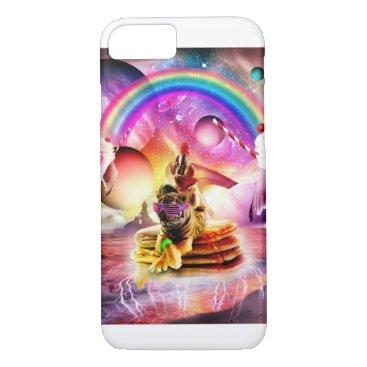 Dog Riding Tiger With Pancakes And Milkshake iPhone 8/7 Case