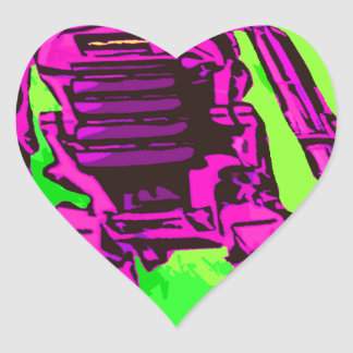 Dog Robot Heart Stickers