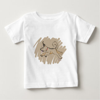 Dog Romping Happily Baby T-Shirt