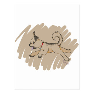Dog Romping Happily Postcard