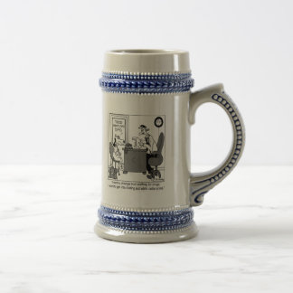 Dog Rooting Out White Collar Crime 18 Oz Beer Stein
