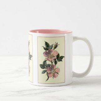 """""""Dog Rose"""" Botanical Illustration Coffee Mug"""