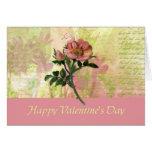 Dog Rose Valentine's Card (Large Print)