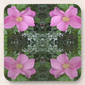 Dog roses in reflect coaster