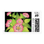 dog roses postage stamps