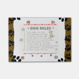 Dog Rules (choose your layer of visability)Post-it Post-it Notes
