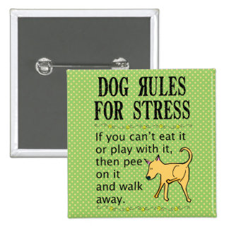 Dog Rules for Stress Buttons
