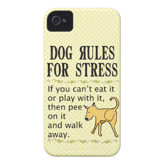 Dog Rules for Stress iPhone 4 Covers