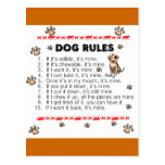 Dog Rules Post Cards