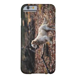 Dog running on dry leaves barely there iPhone 6 case