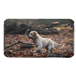 Dog running on dry leaves barely there iPod case