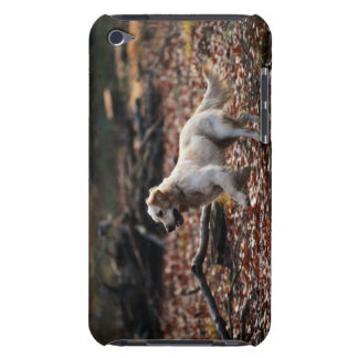 Dog running on dry leaves iPod touch Case-Mate case