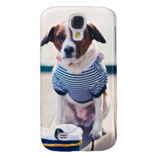 Dog Sailor Sitting Cap Clothes White Nautical Samsung S4 Case
