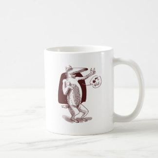 dog says wof coffee mug
