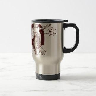 dog says wof travel mug