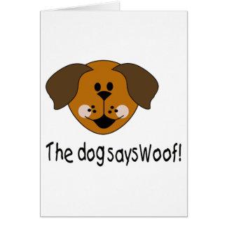Dog Says Woof Card
