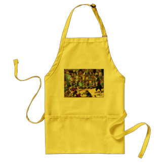 Dog School by Louis Wain Adult Apron