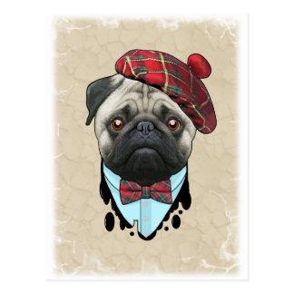 dog Scot Postcard