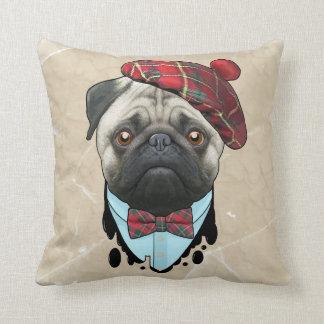dog Scot Throw Pillow