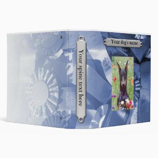 Dog Scrapbook, blue 3 Ring Binder