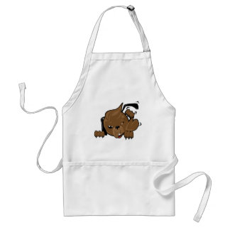 dog scratching smiley adult apron