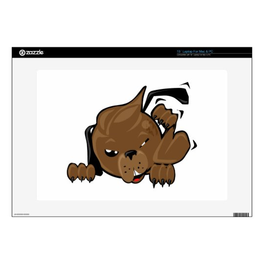 dog scratching smiley decal for laptop
