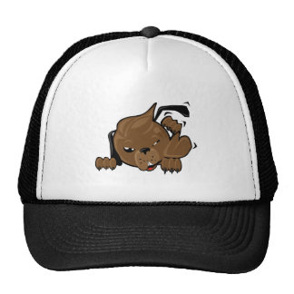 dog scratching smiley trucker hats