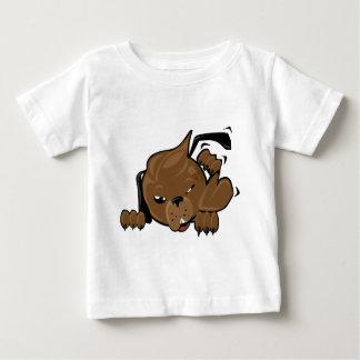dog scratching smiley shirt