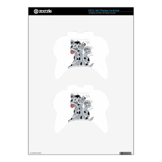 Dog Scratching Xbox 360 Controller Decal