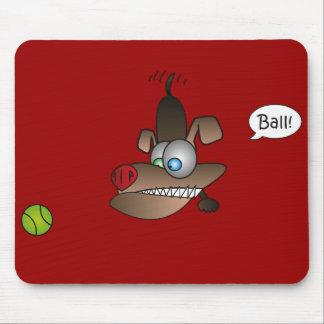 Dog Sees Ball Mouse Pads