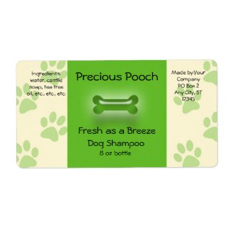 Dog Shampoo Soap Label