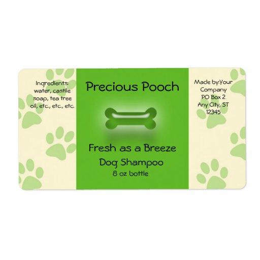 Dog Shampoo Soap Label Zazzle