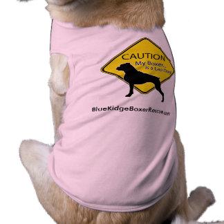 Dog Shirt- Caution my Boxer is a lap dog Pet Shirt