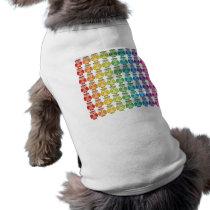 Dog Shirt - Cute Rainbow Owl Pattern