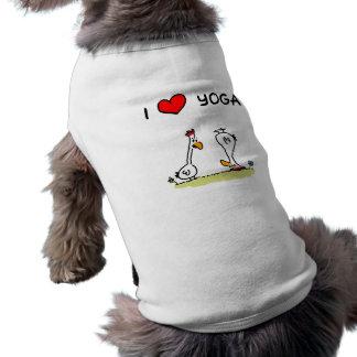 """Dog shirt """"I love yoga """""""